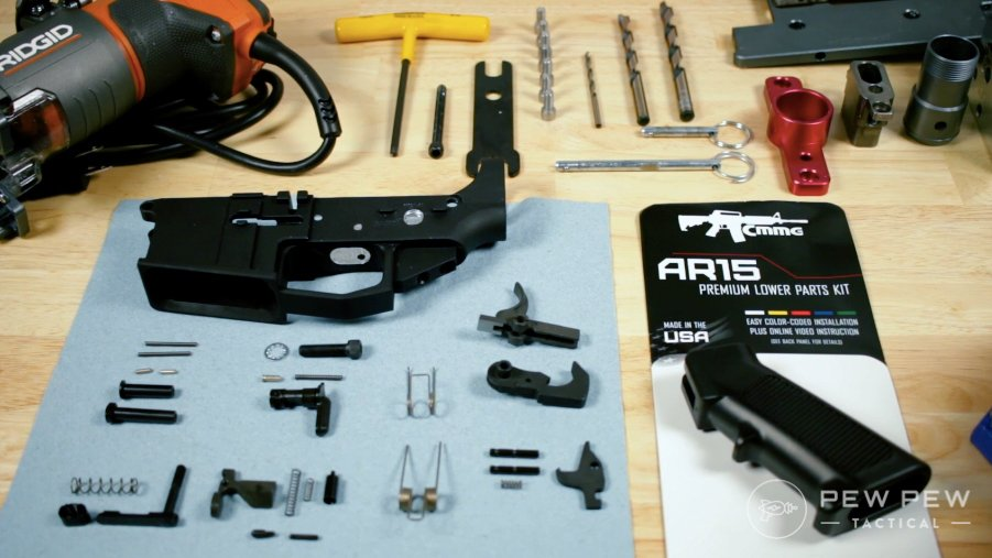 CMMG Lower Parts Kit and 80% Arms Completed Receiver