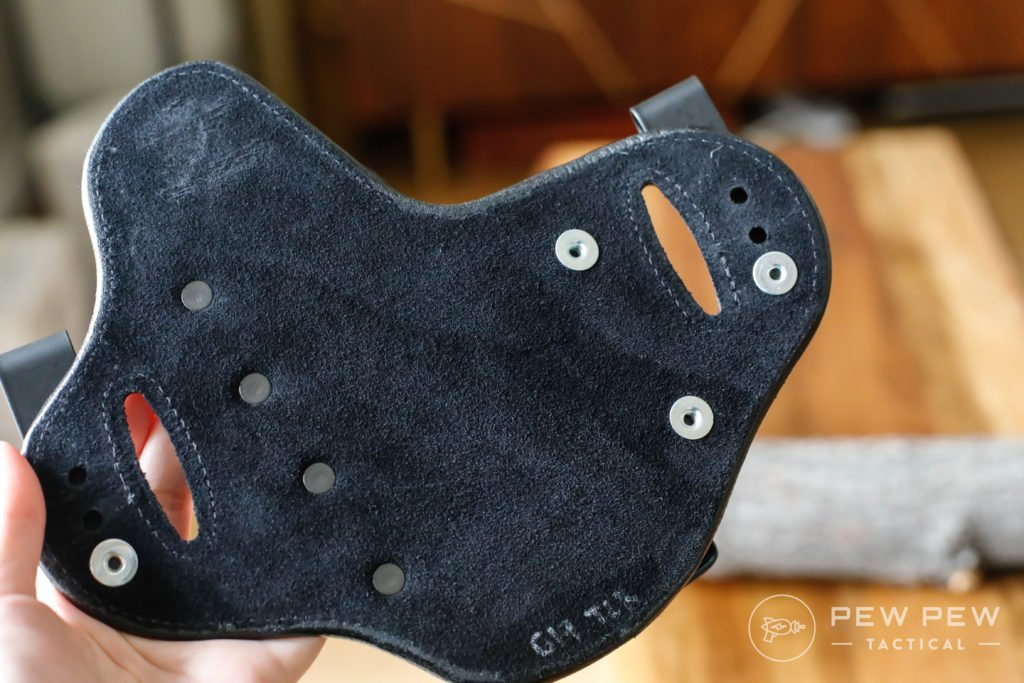 Hidden Hybrid Holster, Suede Back, Double Clip