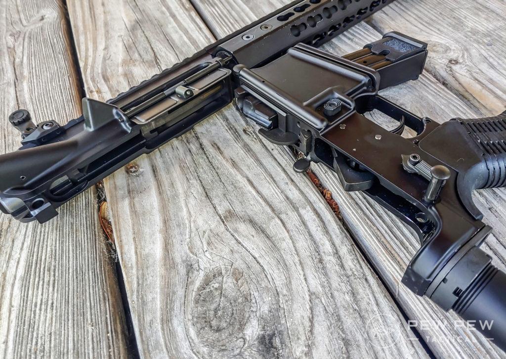 AR9 Colt Opened