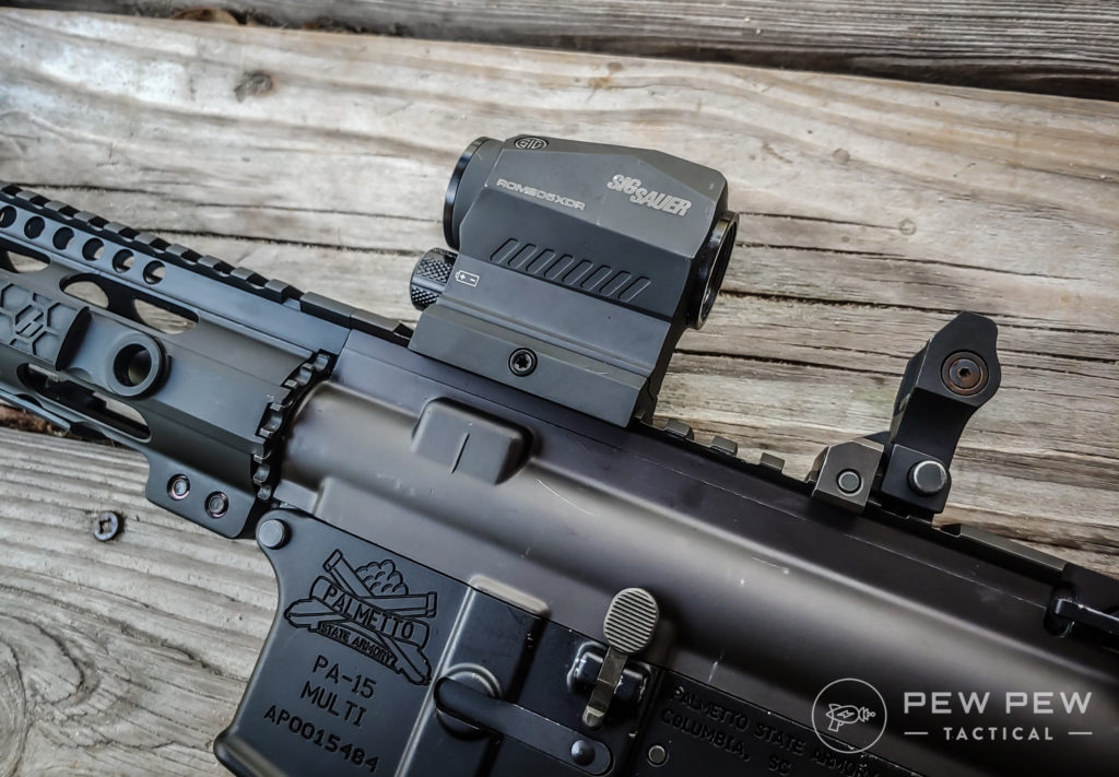 AR9 Colt Optic and BUIS