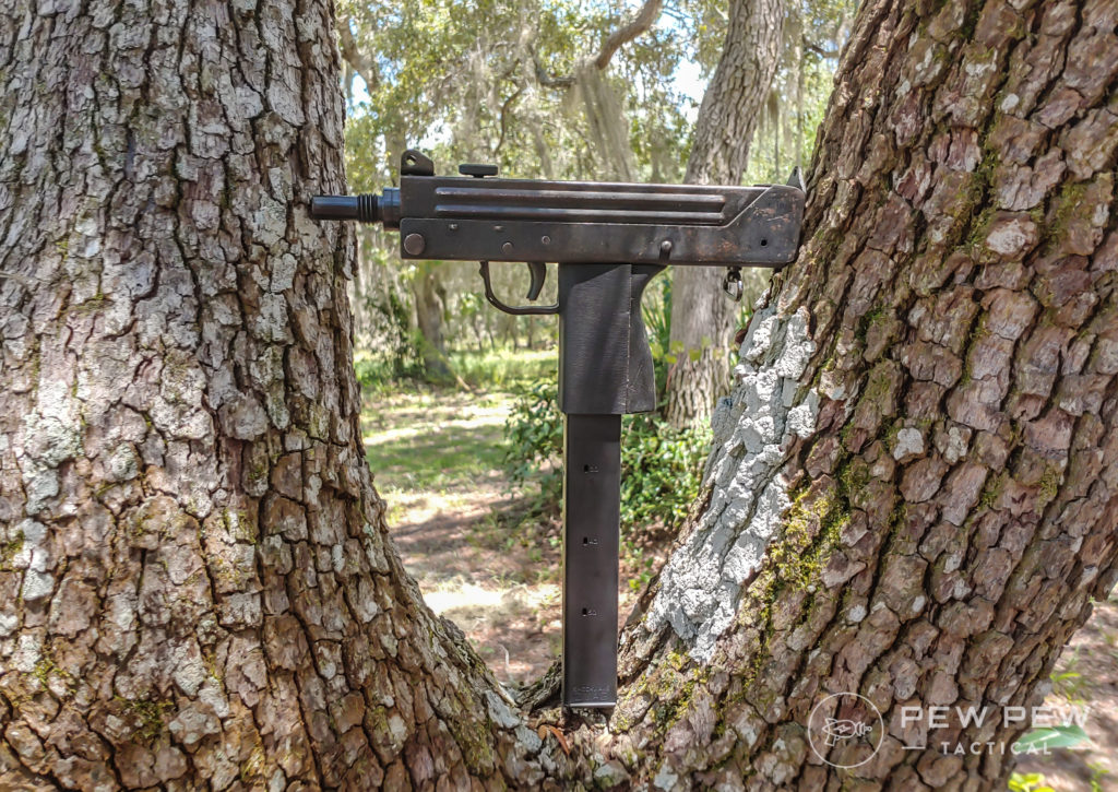 Cobray M11 in a tree