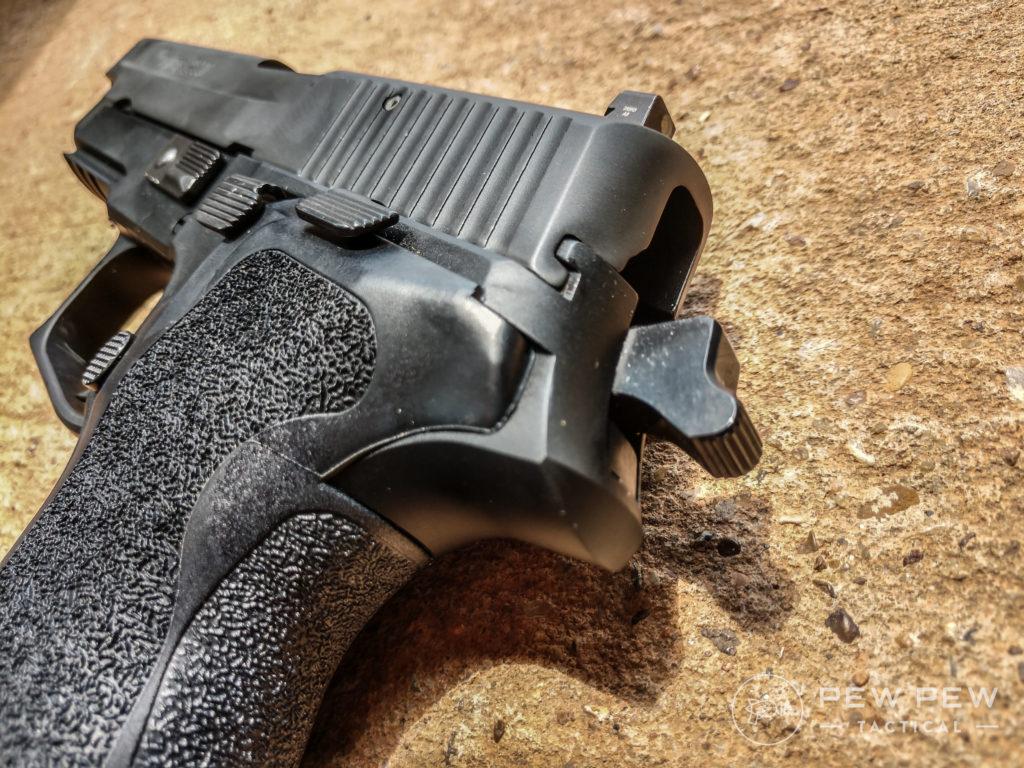 Sig P226 hammer back