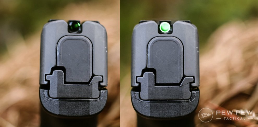 Sig P365 SAS Sighting System Side By Side