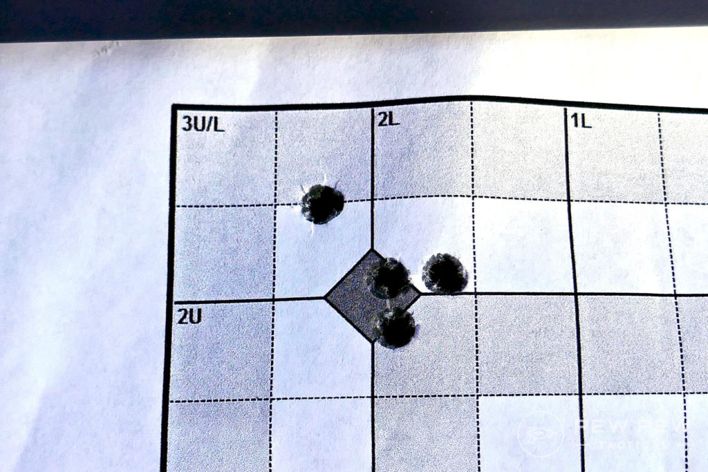 100 yard zero group with Riton Scope