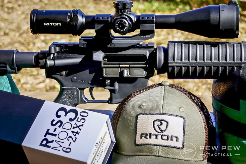 An accurate combo Rock River Arms AR and Riton Optics