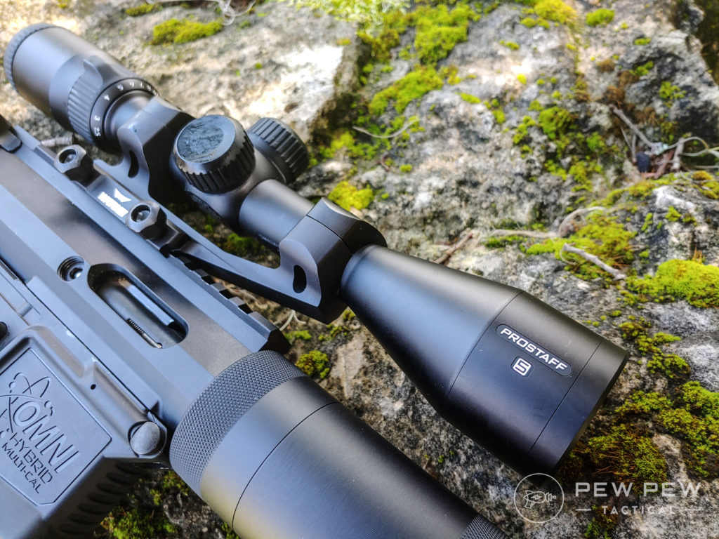 Garrow Arms 17 HMR Scope on a rock