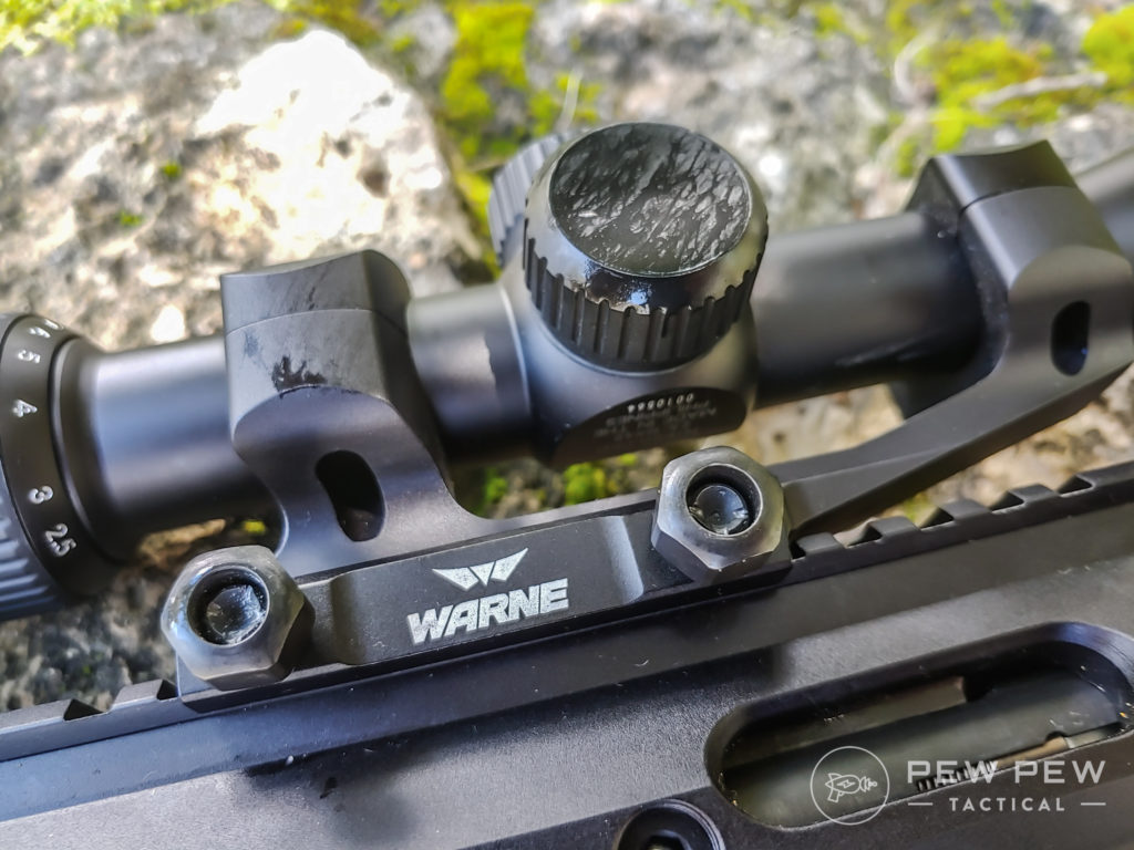 Garrow Arms 17 HMR Worn scope