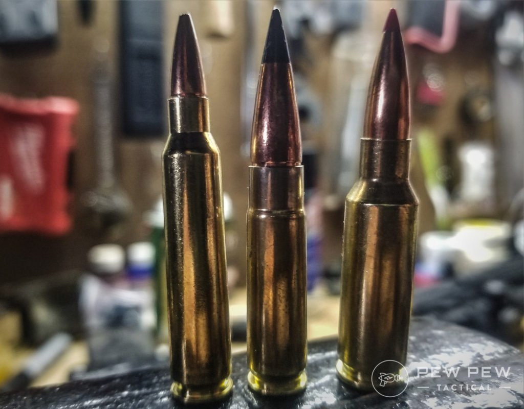 Size differences between 5.56 NATO, .300 BLK, and the 6.5 Grendel