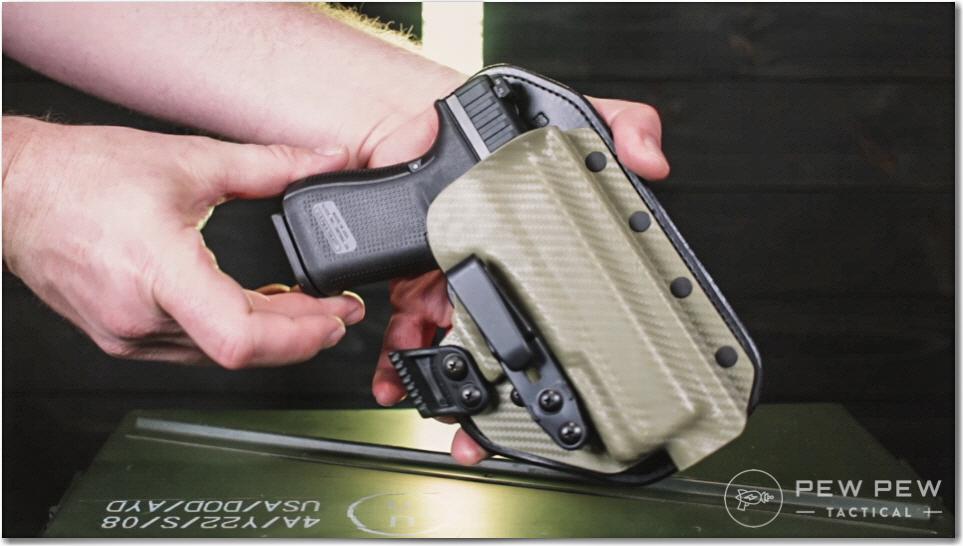 Glock 44 in Hidden Hybrid G19 Holster