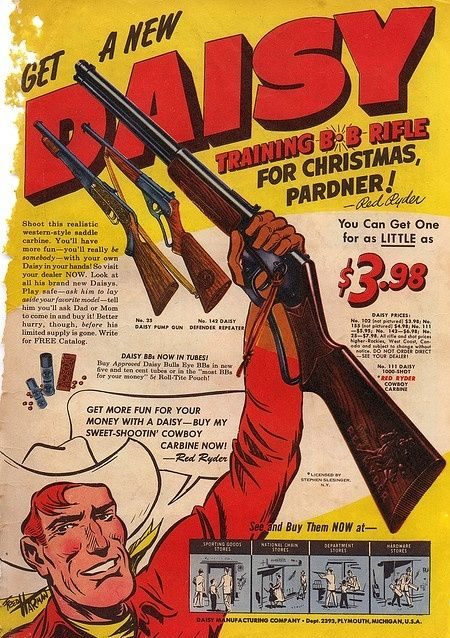 Vintage Red Ryder ad from the 1940s