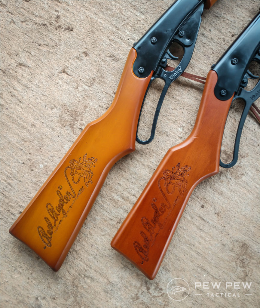 The adult stock is two inches longer than the youth stock, making it way easier for us to shoot (although the youth one is still fun, too) (2)
