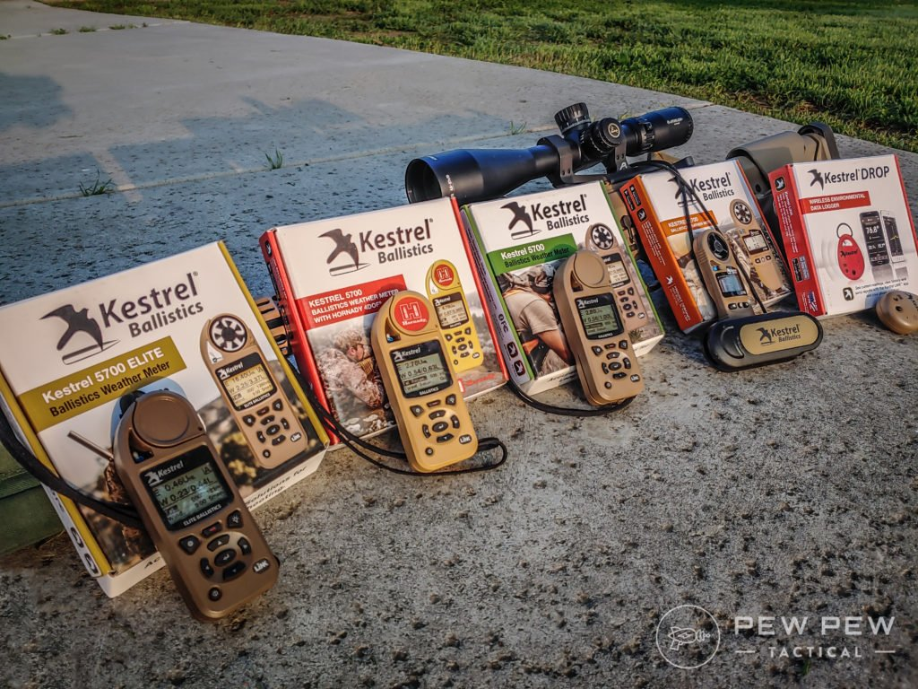 All of the tested Kestrel Weather meters