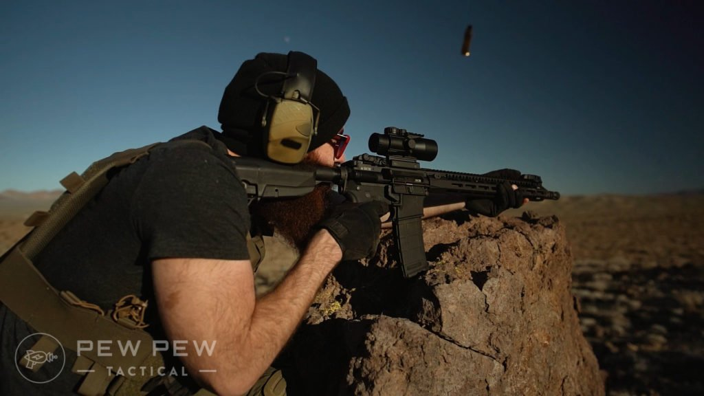 BCM Gunfighter Stock on Recce-16