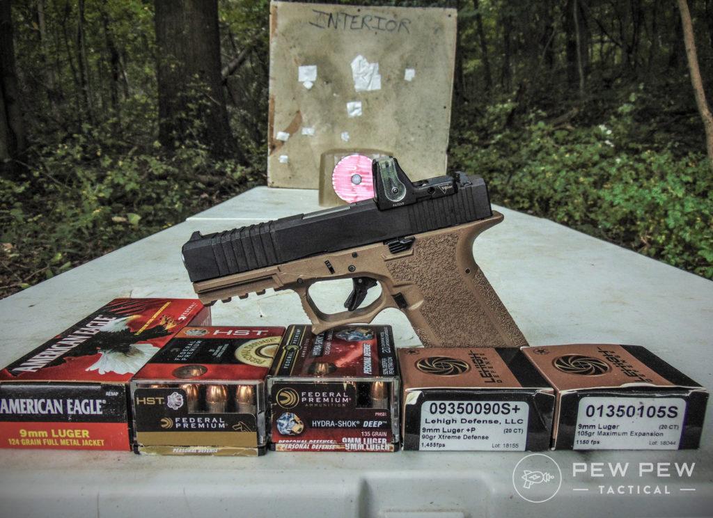 HD overpen test 9mm 80 percent glock