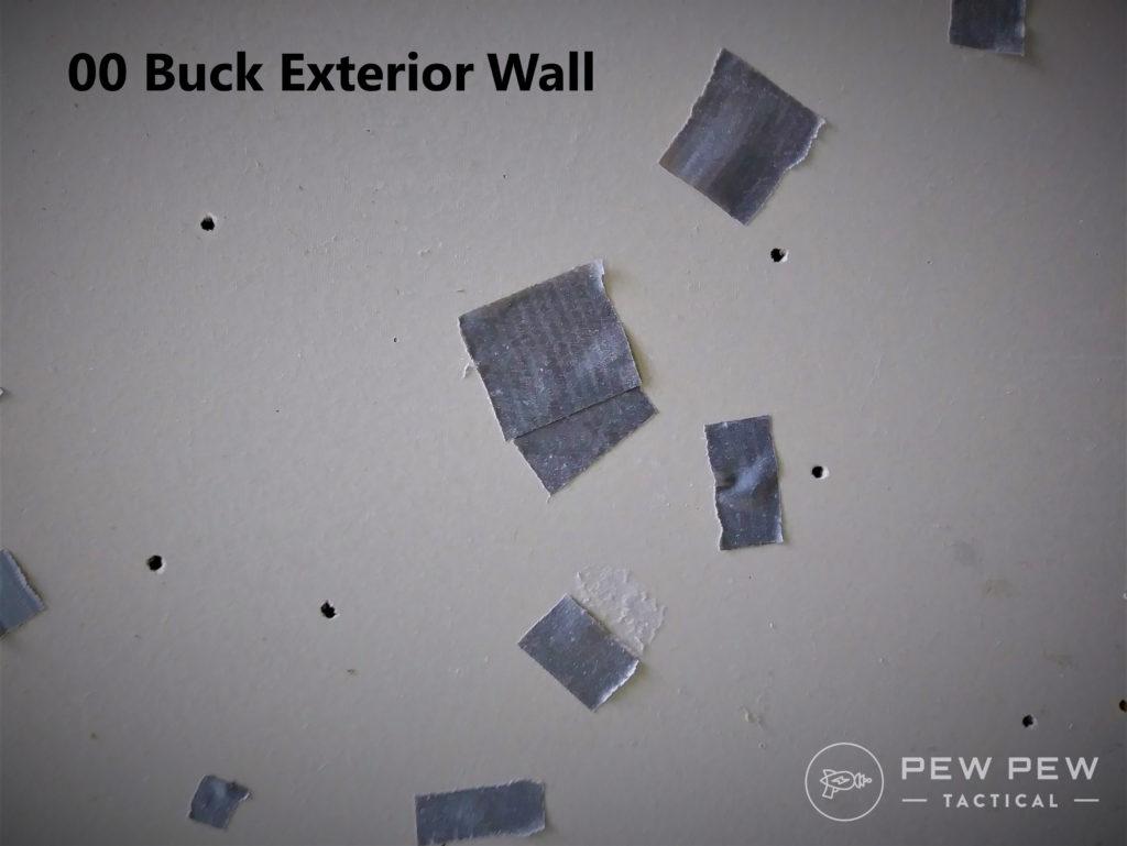 HD overpen test buckshot exterior wall