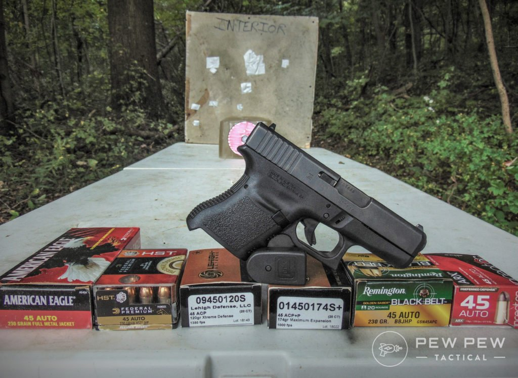 HD overpen testing 45 ACP Glock 26 and ammo