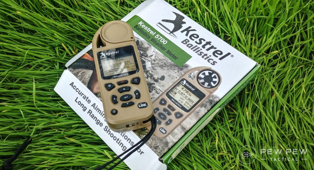 Kestrel 5700 on the grass