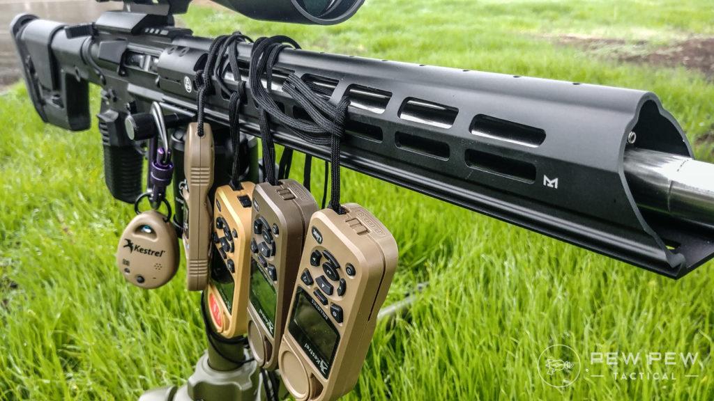 Kestrels on a rifle