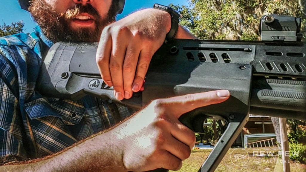 Tavor Shotgun rear end