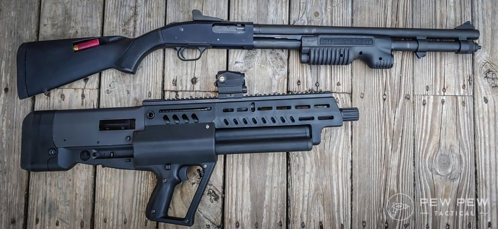 Tavor Shotgun vs stocked shotgun
