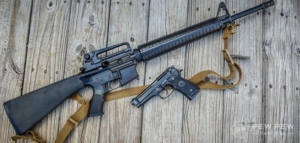 What I carried AR and Beretta and Sling