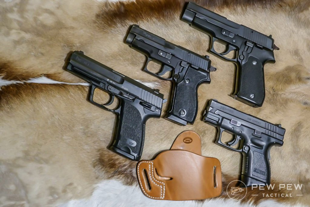 Diamond D Alaska EDC Holster works well with the HK USP, Sig P225, Sig P220 and the Springfield XD Sub Compact