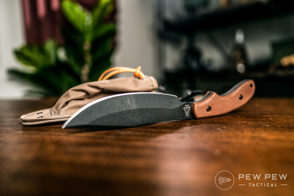 Ka-Bar potbelly on side