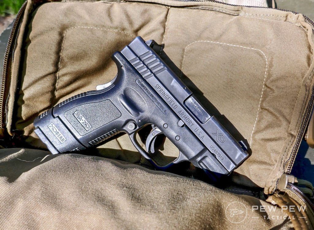 My EDC gun is a Springfield XD Sub Compact in 40 S&W...the Kit Bag carries it easily