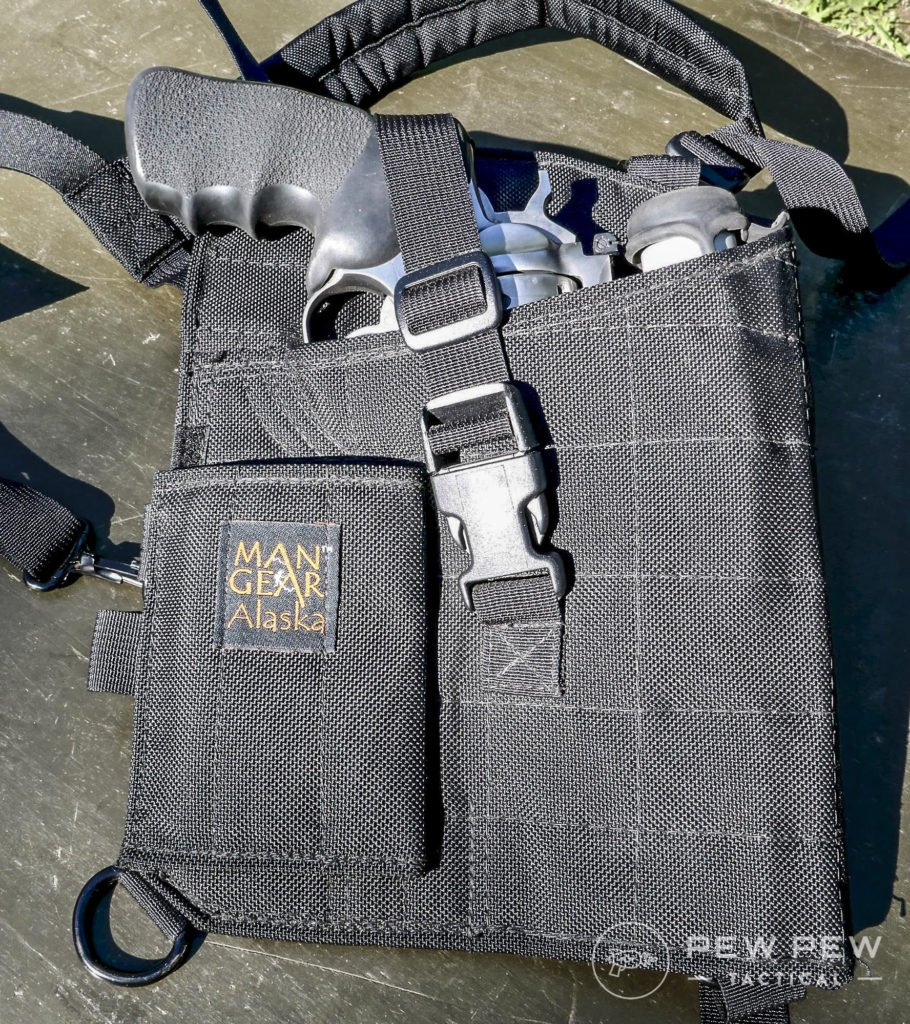 Ruger Toklat with Ultra-Dot Optic in a Man Gear Alaska Chest Holster