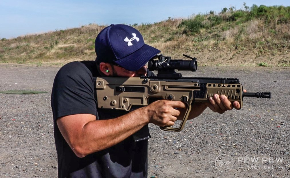 Tavor Shouldered and shooting