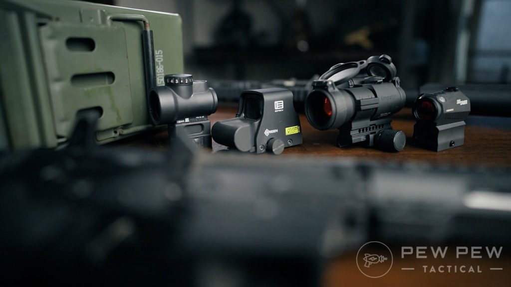 Trijicon MRO Size Comparison with Other Optics