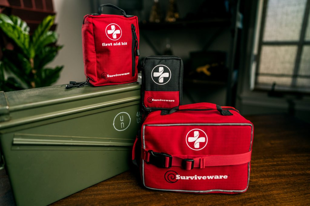 Surviveware Large, Small, and Mini First-Aid kits