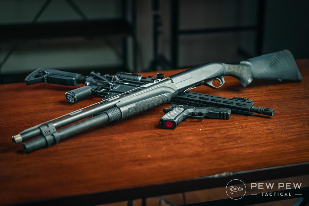 Benelli M2, CZ75, AR-15 (1)