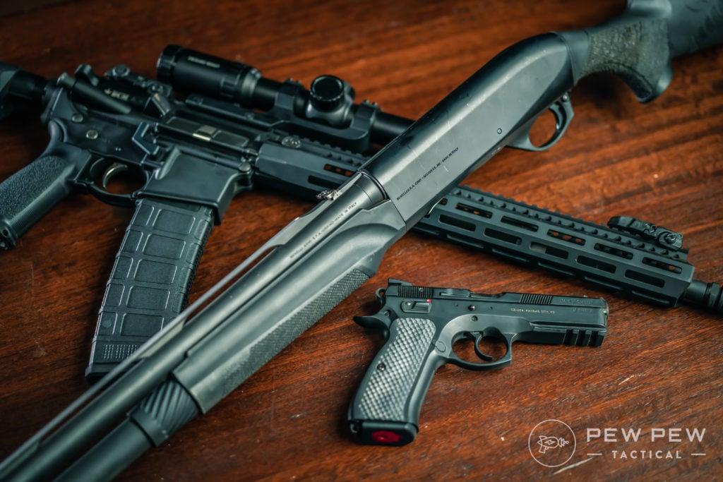 Benelli M2, CZ75, AR-15 (2)