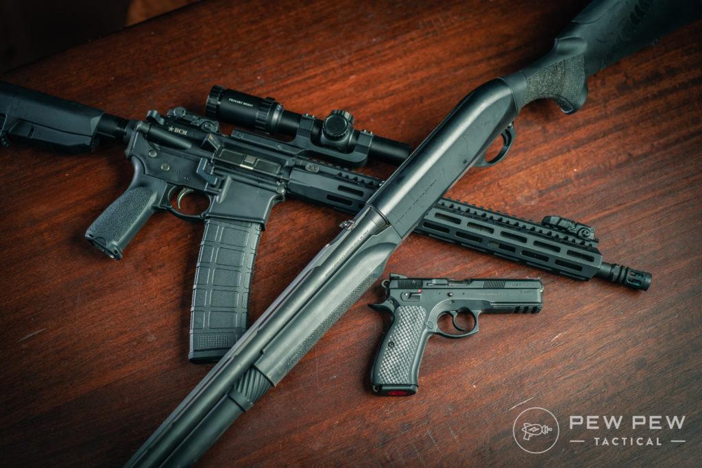 Benelli M2, CZ75, AR-15 (3)