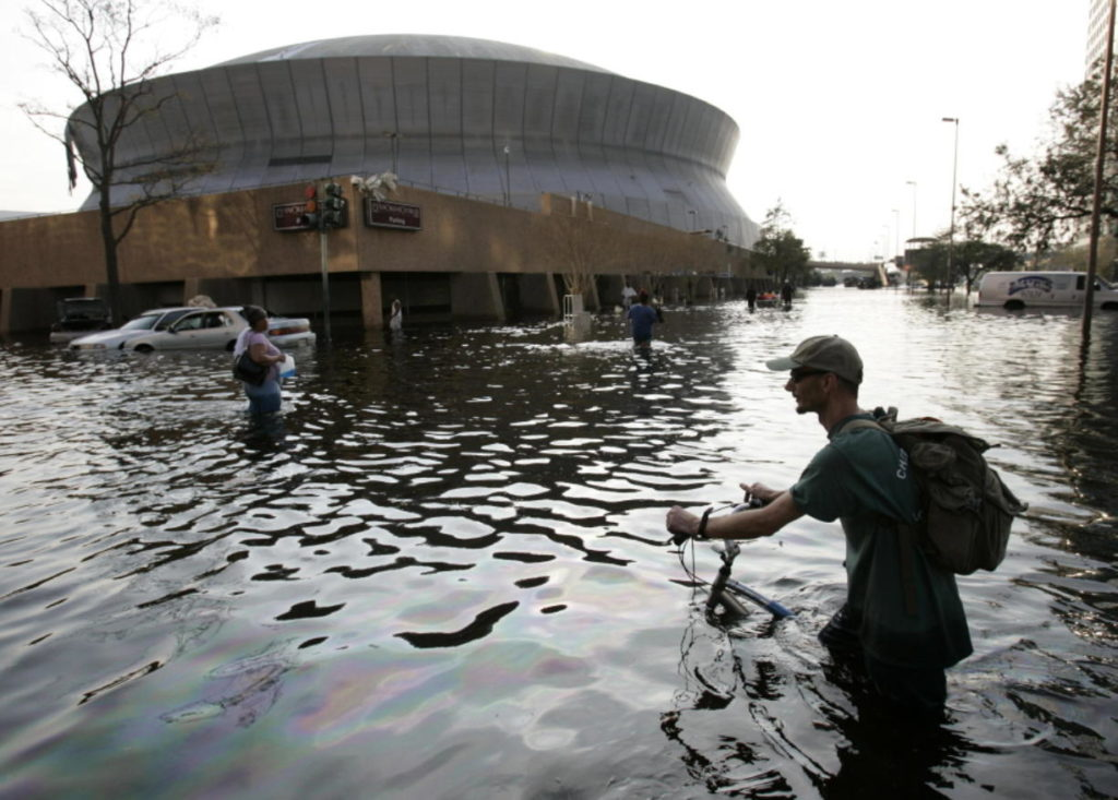 Flooded Superdome in the Aftermath of Hurricane Katrina