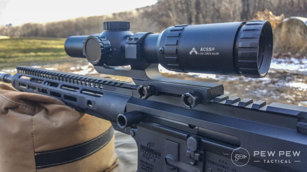 PA 1-8x on the rifle