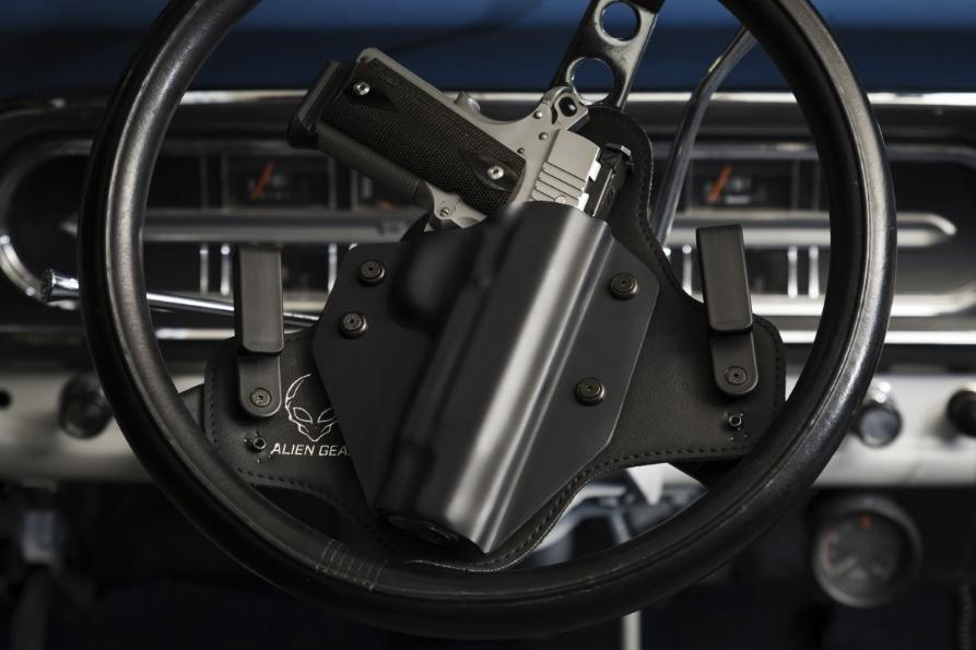 Gun on Steering Wheel
