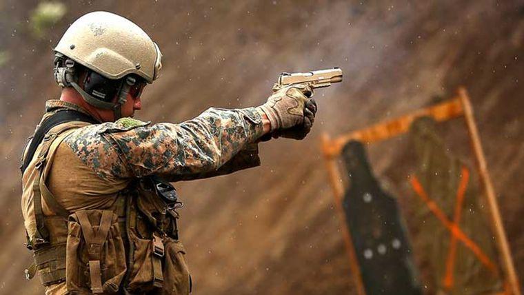 USMC Marine shooting M1911