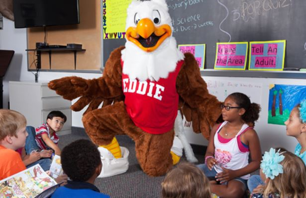 eddie eagle with kids