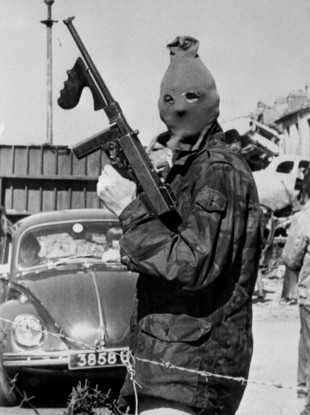 An IRA guard with a Thompson