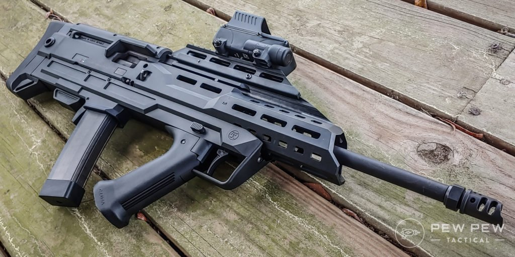 Bullpup Scorpion and Meprolight Foresight deck with a view
