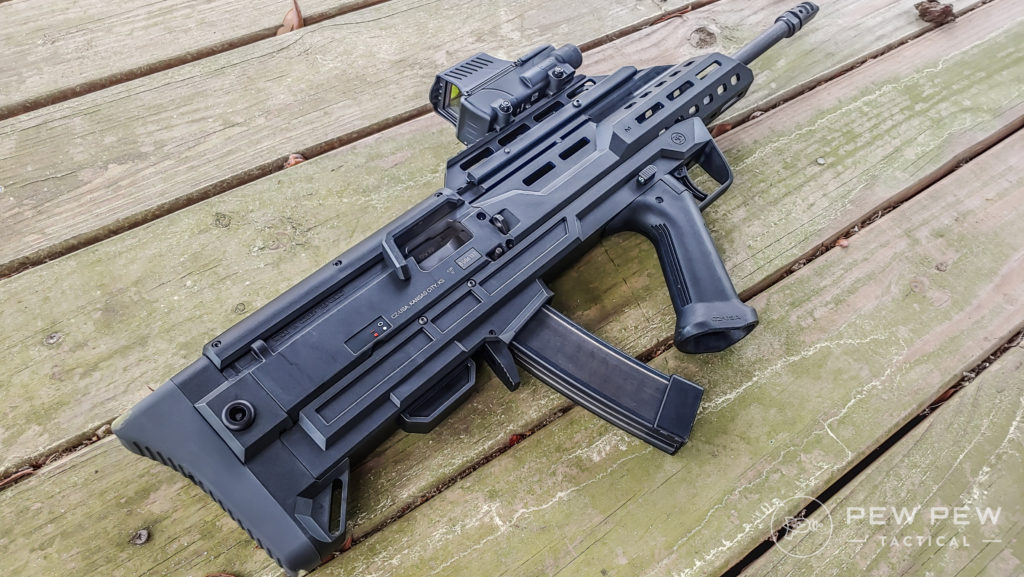Bullpup Scorpion and Meprolight Foresight rear end