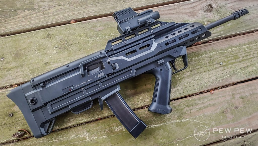Bullpup Scorpion and Meprolight Foresight right side on deck