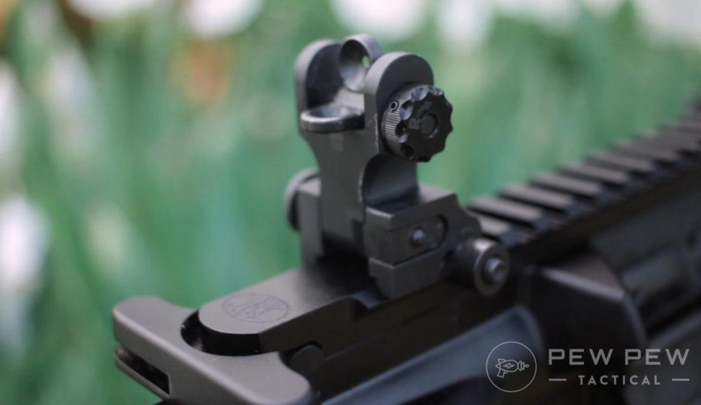 FN 15 rear iron sight