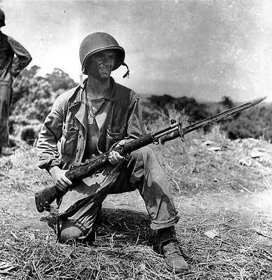 Marine in Guadalacanal with an M1 Garand