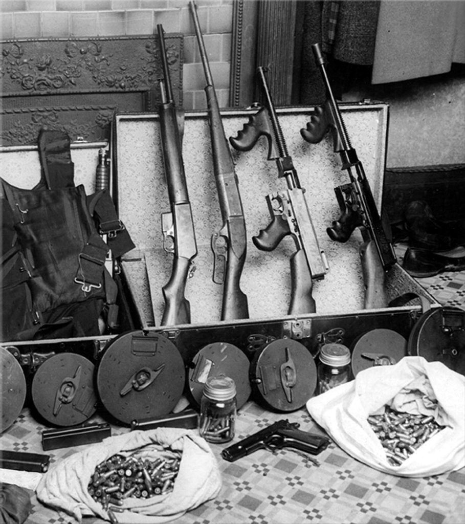 Tommy guns owned by Fred Burke