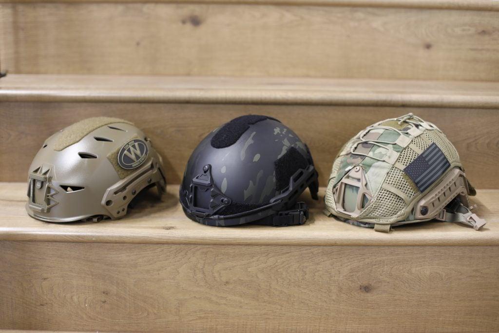 Helmets (L to R), Team Wendy, HHV Gen 2, HHV Gen 1