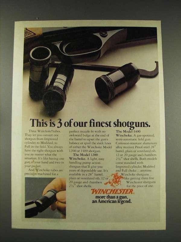 1976 Winchester WinChoke ad