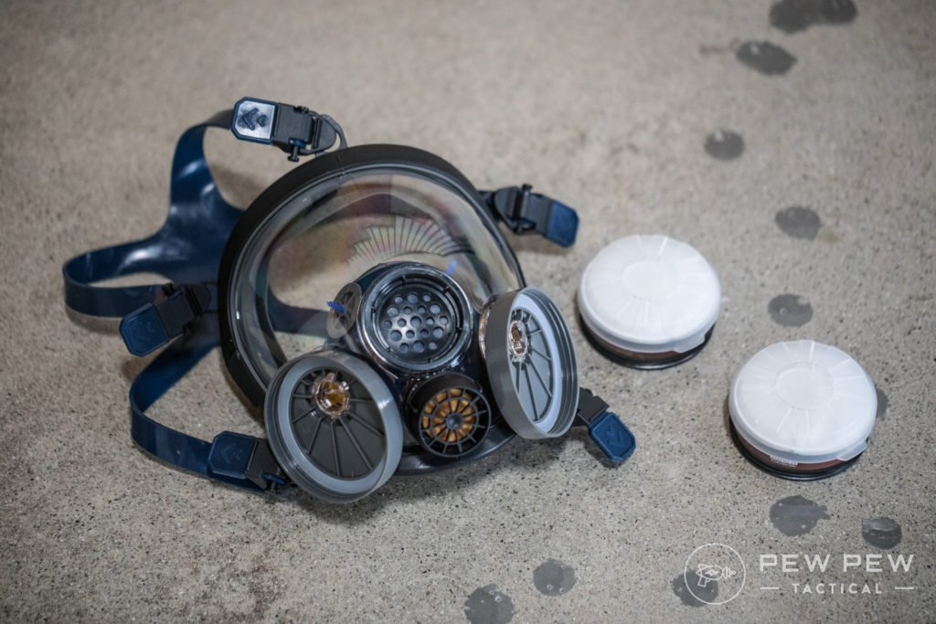 PD-100 Full Face Respirator with Filters